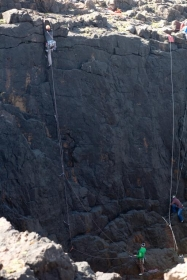 Al at Breigeo Crag, Papa Stour