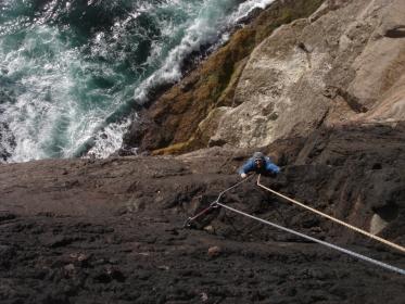 Paul seconding The Great Escape, Black Crag