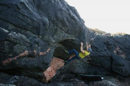 Bouldering at a new Westside crag